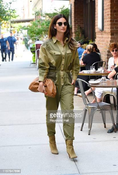 Lily Aldridge is seen walking in tribeca on July 25 2019 in New York City