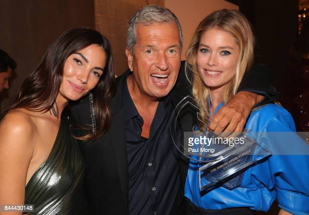 Lily Aldridge Mario Testino and Doutzen Kroes attend the Daily Front Row's Fashion Media Awards at Four Seasons Hotel New York Downtown on September...