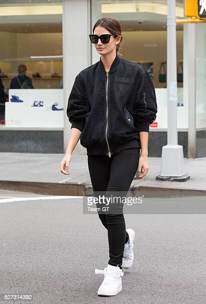 Lily Aldridge seen outside her hotel on May 2 2016 in New York City