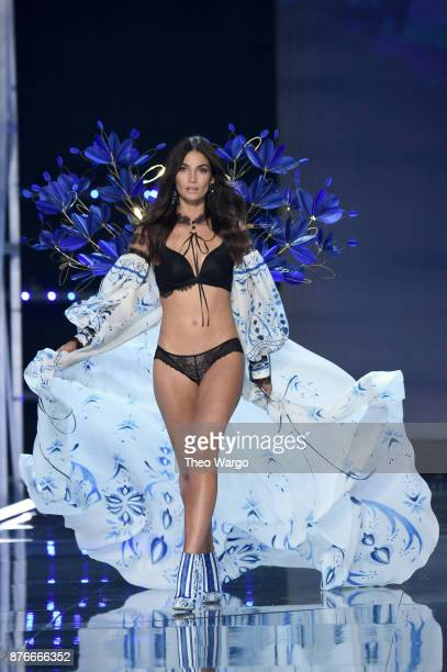 Lily Aldridge walks the runway during the 2017 Victoria's Secret Fashion Show In Shanghai at MercedesBenz Arena on November 20 2017 in Shanghai China