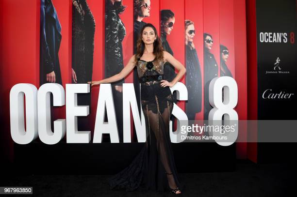 Lily Aldrige attends Ocean's 8 World Premiere at Alice Tully Hall on June 5 2018 in New York City