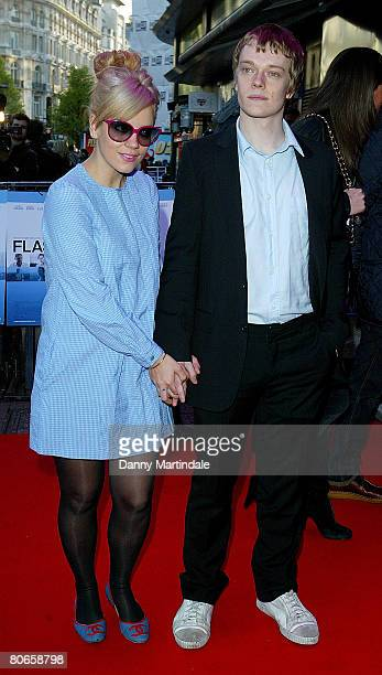 Lily Allen and Alfie Allen attend the Flashbacks of a Fool World Film Premiere at the Empire Leicester Square on April 13 2008 in London England