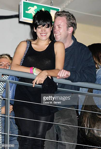 Lily allen and boyfriend Sam Cooper attend the DieselUMusic World Tour Party held at the University of Westminster on October 1 2009 in London England