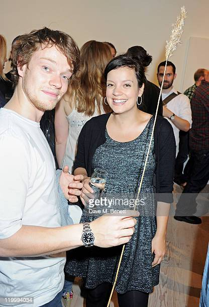 Lily Allen and brother Alfie Allen attend a private view of works by five leading artists who have created pieces inspired by Reebok's Zig Tech...
