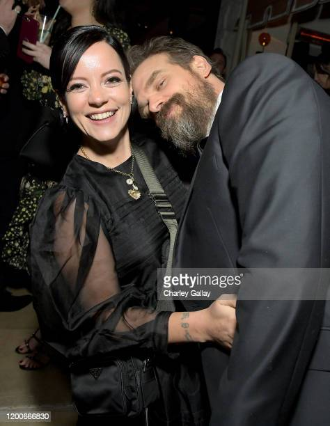 Lily Allen and David Harbour attend 2020 Netflix SAG After Party at Sunset Tower on January 19 2020 in Los Angeles California