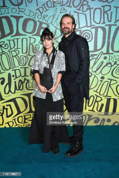 Lily Allen and David Harbour attend the Dior Men's Fall 2020 Runway Show on December 03, 2019 in Miami, Florida.