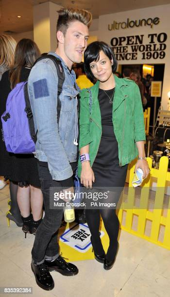 Lily Allen and Henry Holland attending Selfridges Big Yellow Festival launch party, held at the store in Oxford Street, London, to celebrate...