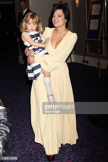 Lily Allen and her sister Teddy Rose Allen arrive at the 55th Ivor Novello Awards held at Grosvenor House Hotel on May 20 2010 in London England