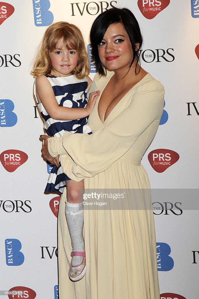 Lily Allen and her sister Teddy Rose Allen arrive at the 55th Ivor Novello Awards held at Grosvenor House Hotel on May 20, 2010 in London, England.