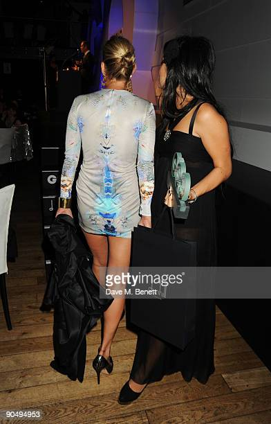 Lily Allen and Kate Moss at the 2009 GQ Men Of The Year Awards at The Royal Opera House on September 8 2009 in London England