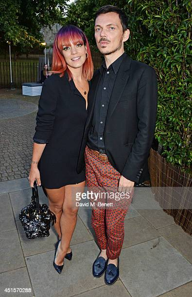 Lily Allen and Matthew Williamson attend The Serpentine Gallery Summer Party cohosted by Brioni at The Serpentine Gallery on July 1 2014 in London...