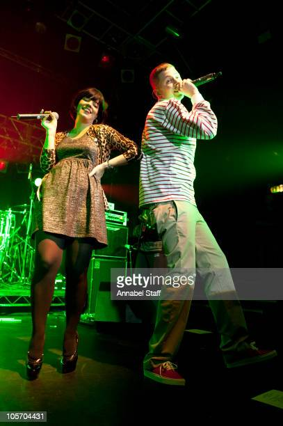 Lily Allen and Professor Green perform on stage at KOKO on October 19 2010 in London England
