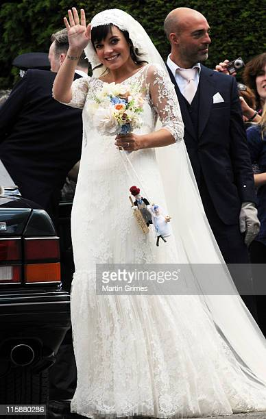 Lily Allen and Sam Cooper are wed at St James the Great church on June 11 2011 in Cranham Gloucestershire England