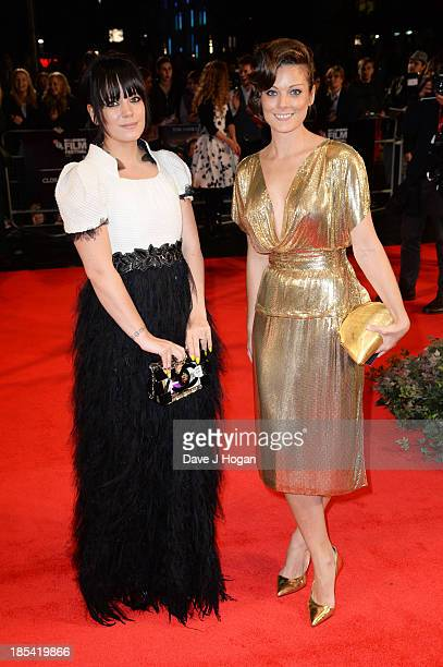 Lily Allen and Sarah Owen attend the Closing Night Gala European Premiere of 'Saving Mr Banks' on the closing night gala during the 57th BFI London...