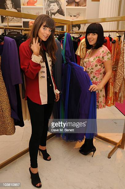 Lily Allen and sister Sarah Owen popped into Selfridges Wonder Room to check on their 'Lucy In Disguise' line which they will launch in their new...