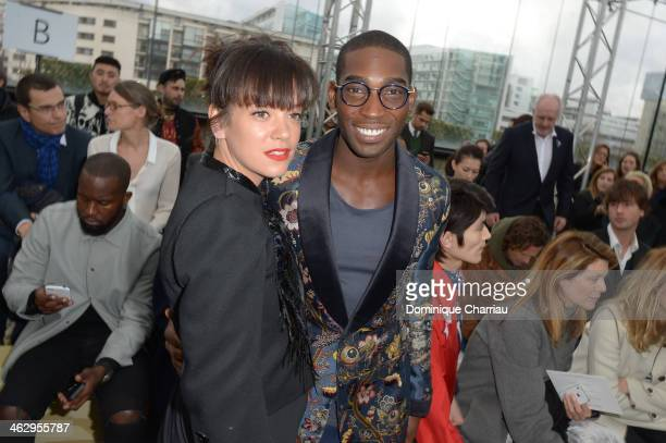 Lily Allen and Tinie Tempah attend the Louis Vuitton Menswear Fall/Winter 20142015 Show as part of Paris Fashion Week on January 16 2014 in Paris...