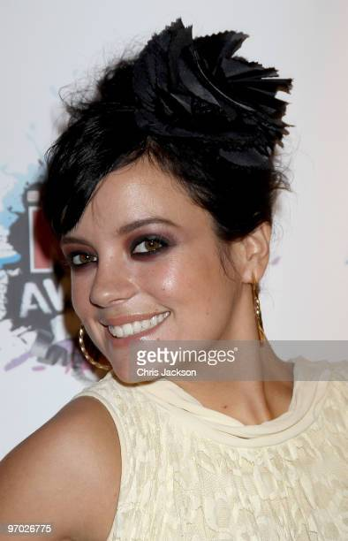 Lily Allen arrives at the Shockwaves NME Awards 2010 at Brixton Academy on February 24 2010 in London England