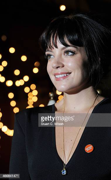 Lily Allen attends Centrepoint's ultimate pub quiz at Village Underground on February 4 2014 in London England