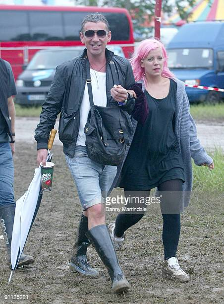 Lily Allen attends Glastonbury Festival 2008 on June 27 2008 in Glastonbury England