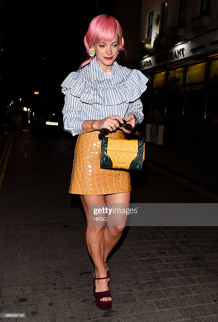 Celebrity Sightings On Day 4 Of London Fashion Week SS16