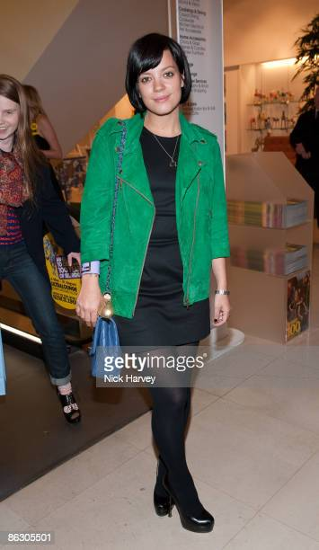 Lily Allen attends Selfridges' 100th birthday party at Selfridges on April 30 2009 in London England