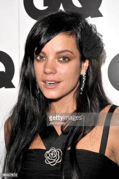 Lily Allen attends the 2009 GQ Men Of The Year Awards at The Royal Opera House on September 8 2009 in London England