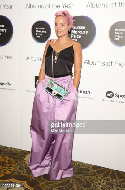 Lily Allen attends the 2018 Hyundai Mercury Prize Albums Of The Year launch at Langham Hotel on July 26, 2018 in London, England.