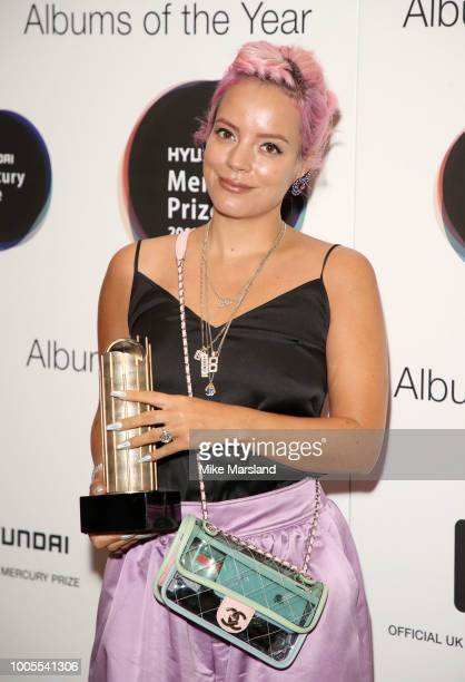 Lily Allen attends the 2018 Hyundai Mercury Prize Albums Of The Year launch at Langham Hotel on July 26 2018 in London England