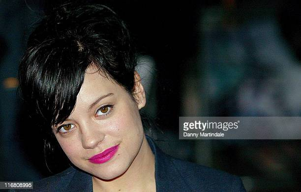 Lily Allen attends the Brick Lane Gala Screening at West End Odeon on October 26 2007 in London