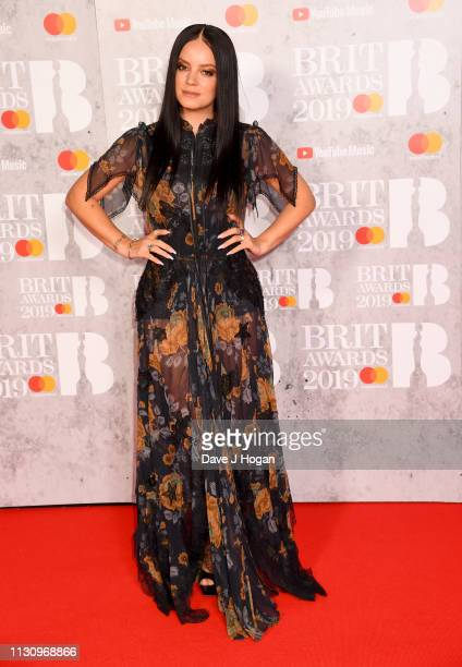 Lily Allen attends The BRIT Awards 2019 held at The O2 Arena on February 20 2019 in London England