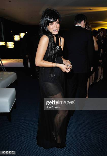Lily Allen attends the Champagne Reception for GQ Men of the Year awards at The Royal Opera House on September 8 2009 in London England