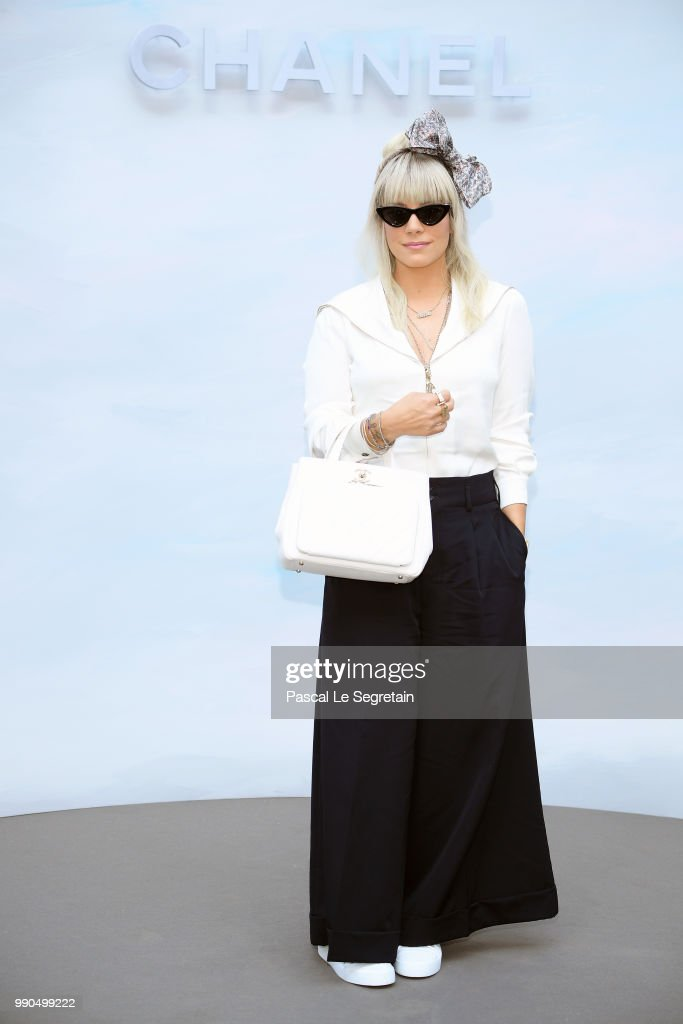 Lily Allen attends the Chanel Haute Couture Fall Winter 2018/2019 show as part of Paris Fashion Week on July 3, 2018 in Paris, France.