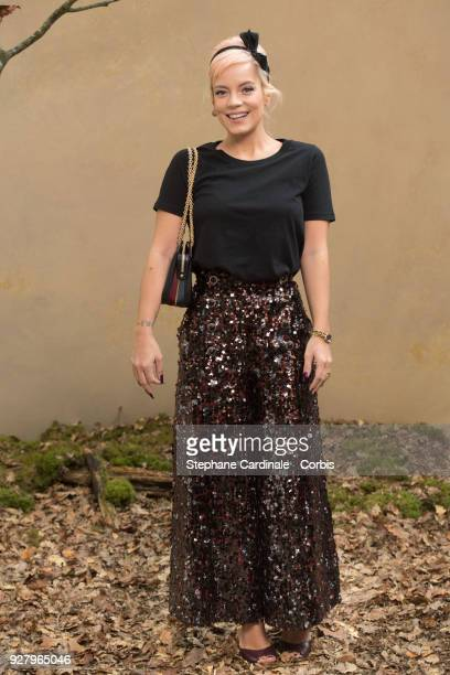 Lily Allen attends the Chanel show as part of the Paris Fashion Week Womenswear Fall/Winter 2018/2019 on March 6 2018 in Paris France