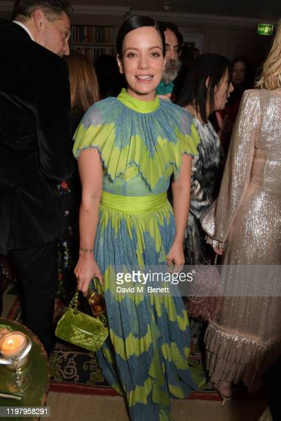 Lily Allen attends the Charles Finch CHANEL PreBAFTA Party at 5 Hertford Street on February 1 2020 in London England