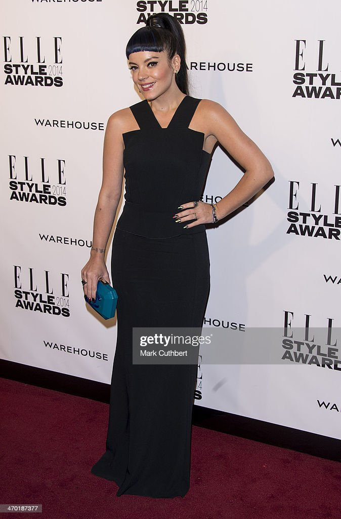 Lily Allen attends the Elle Style Awards 2014 at one Embankment on February 18, 2014 in London, England.