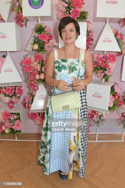 Lily Allen attends the evian Live Young suite at The Championships, Wimbledon 2019 on July 11, 2019 in London, England.