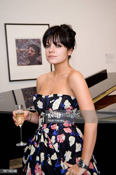 Lily Allen attends the exhibition of Vanity Fair Portraits preview party hosted by Graydon Carter and Christopher Bailey at the National Portrait...