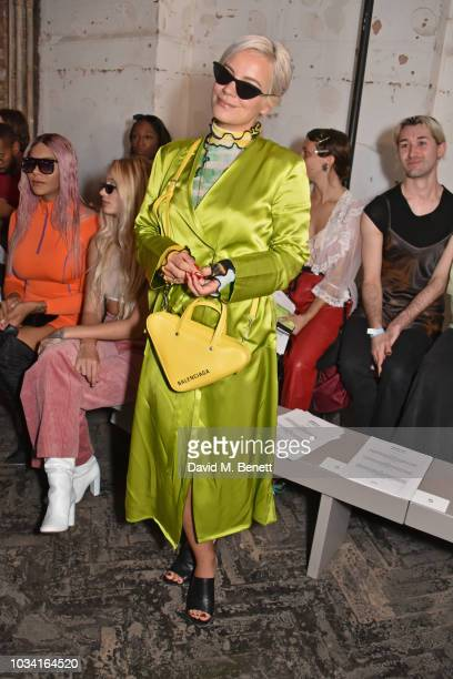 Lily Allen attends the Fashion East front row during London Fashion Week September 2018 at the My Beautiful City Show Space on September 16 2018 in...