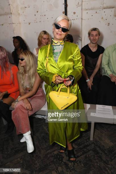 Lily Allen attends the Fashion East show during London Fashion Week September 2018 at 'My Beautiful City show Space' 26 Tavistock Street on September...