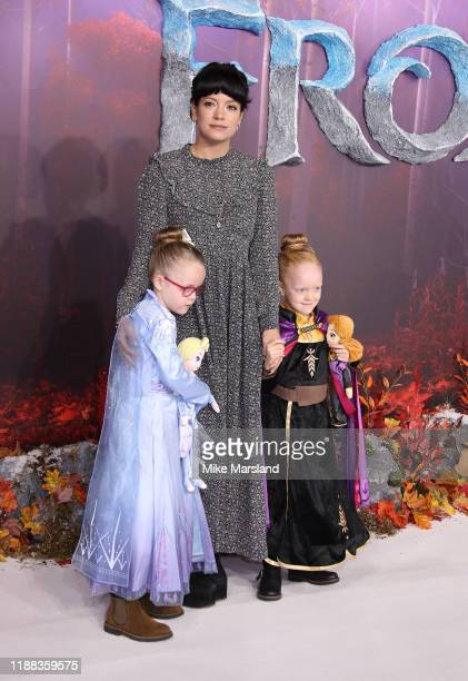Lily Allen attends the Frozen 2 European premiere at BFI Southbank on November 17 2019 in London England