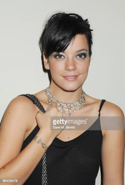 Lily Allen attends the Harper's Bazaar Women Of The Year Awards at The Dorchester on September 7 2009 in London England