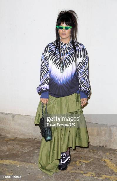 Lily Allen attends the House of Holland show during London Fashion Week February 2019 at the University of Westminster on February 16 2019 in London...