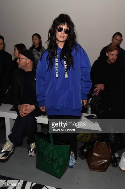 Lily Allen attends the Izzue show during London Fashion Week February 2019 at BFC Show Space on February 19, 2019 in London, England.