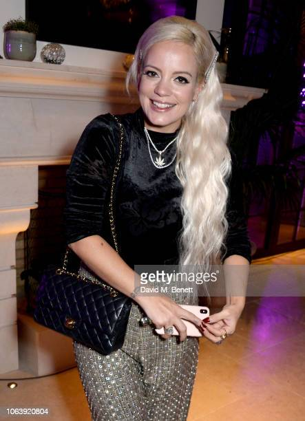 Lily Allen attends the Kimpton Hotels Restaurants a housewarming party to celebrate its arrival in the UK at Kimpton Fitzroy London on November 20...