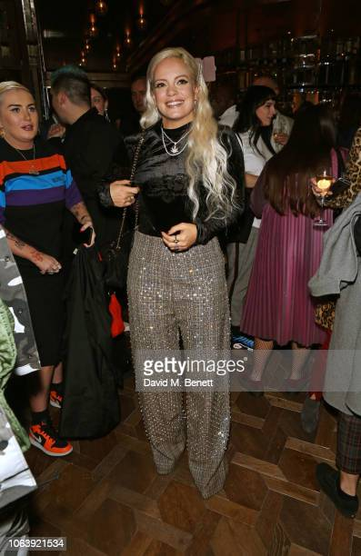 Lily Allen attends the launch of new restaurant Brasserie Of Light at Selfridges on November 20 2018 in London England