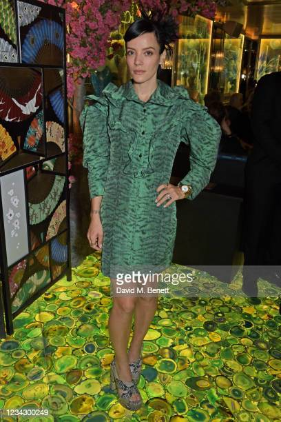 Lily Allen attends the launch of The Ivy Asia, Chelsea, on July 29, 2021 in London, England.