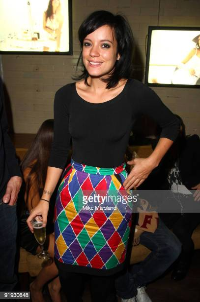 Lily Allen attends the launch of the OMEGA Constellation 2009 collection on October 15 2009 in London England