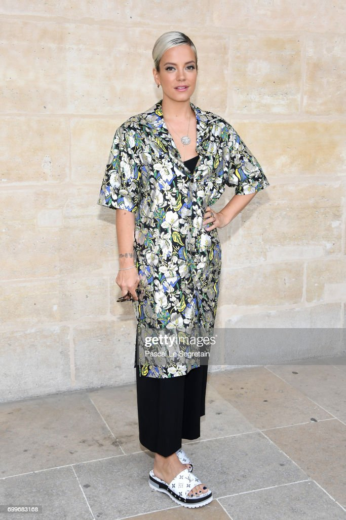 Lily Allen attends the Louis Vuitton Menswear Spring/Summer 2018 show as part of Paris Fashion Week on June 22, 2017 in Paris, France.