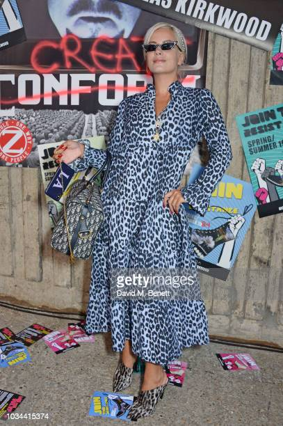 Lily Allen attends the Nicholas Kirkwood SS19 show during London Fashion Week at Ambika P3 on September 16, 2018 in London, England.