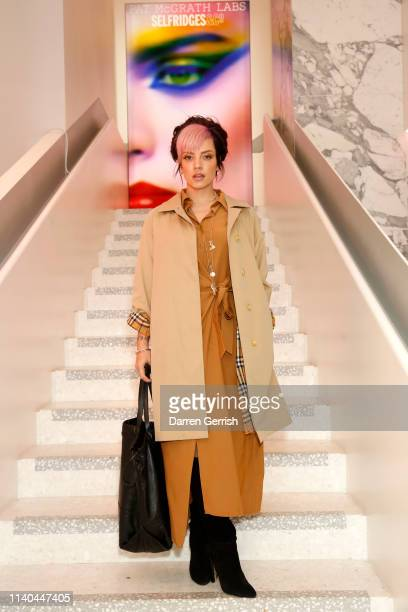 Lily Allen attends the Pat McGrath 'A Technicolour Odyssey' Campaign launch party at Brasserie of Light Selfridges on April 04 2019 in London England